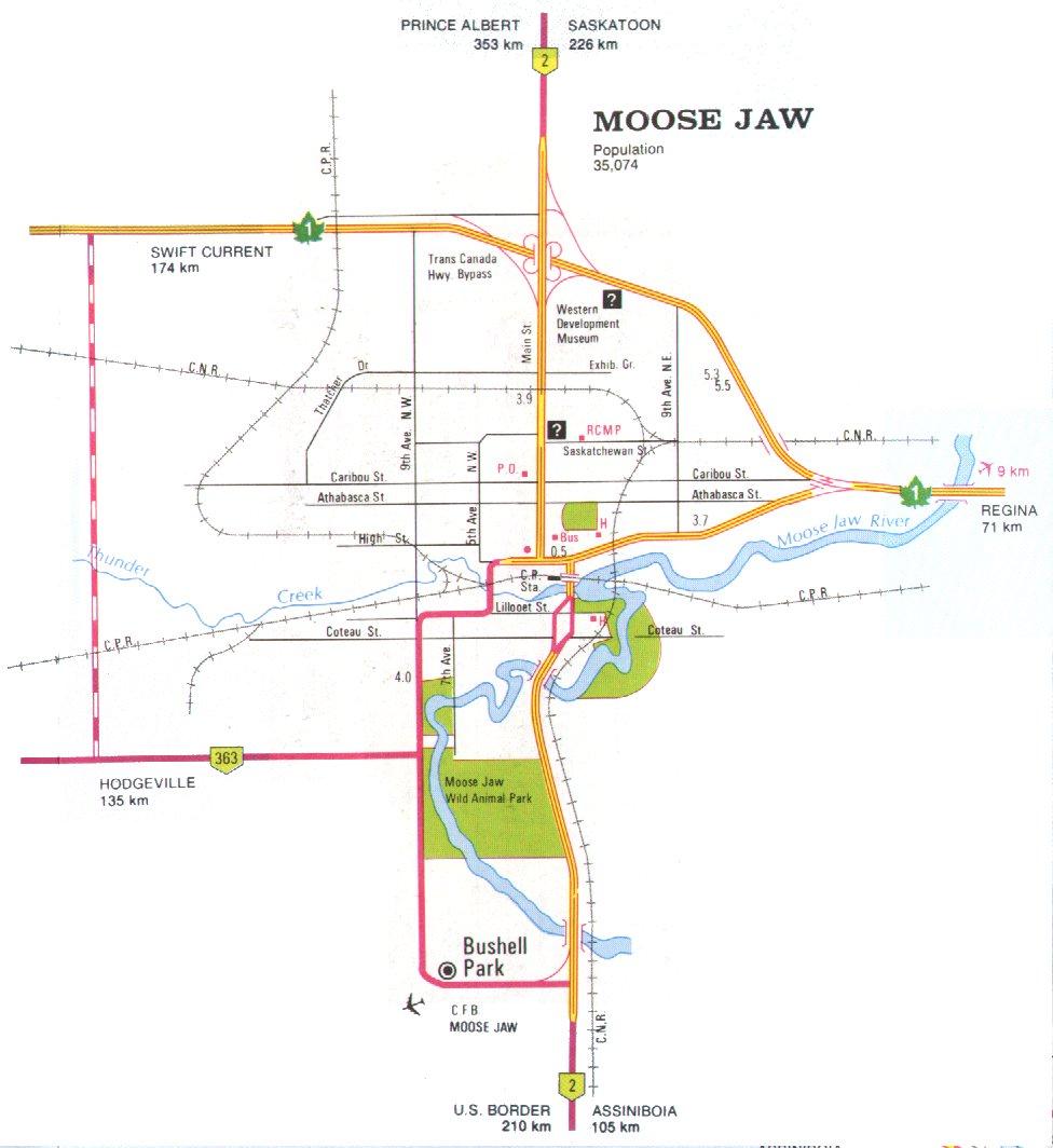 Moose Jaw Map Moose Jaw Map | compressportnederland Moose Jaw Map